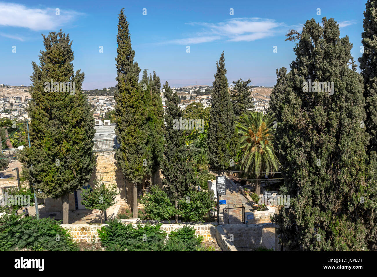 View of the entrance to the Chamber of the Holocaust, Museum and Memorial, Jerusalem, Israel. - Stock Image