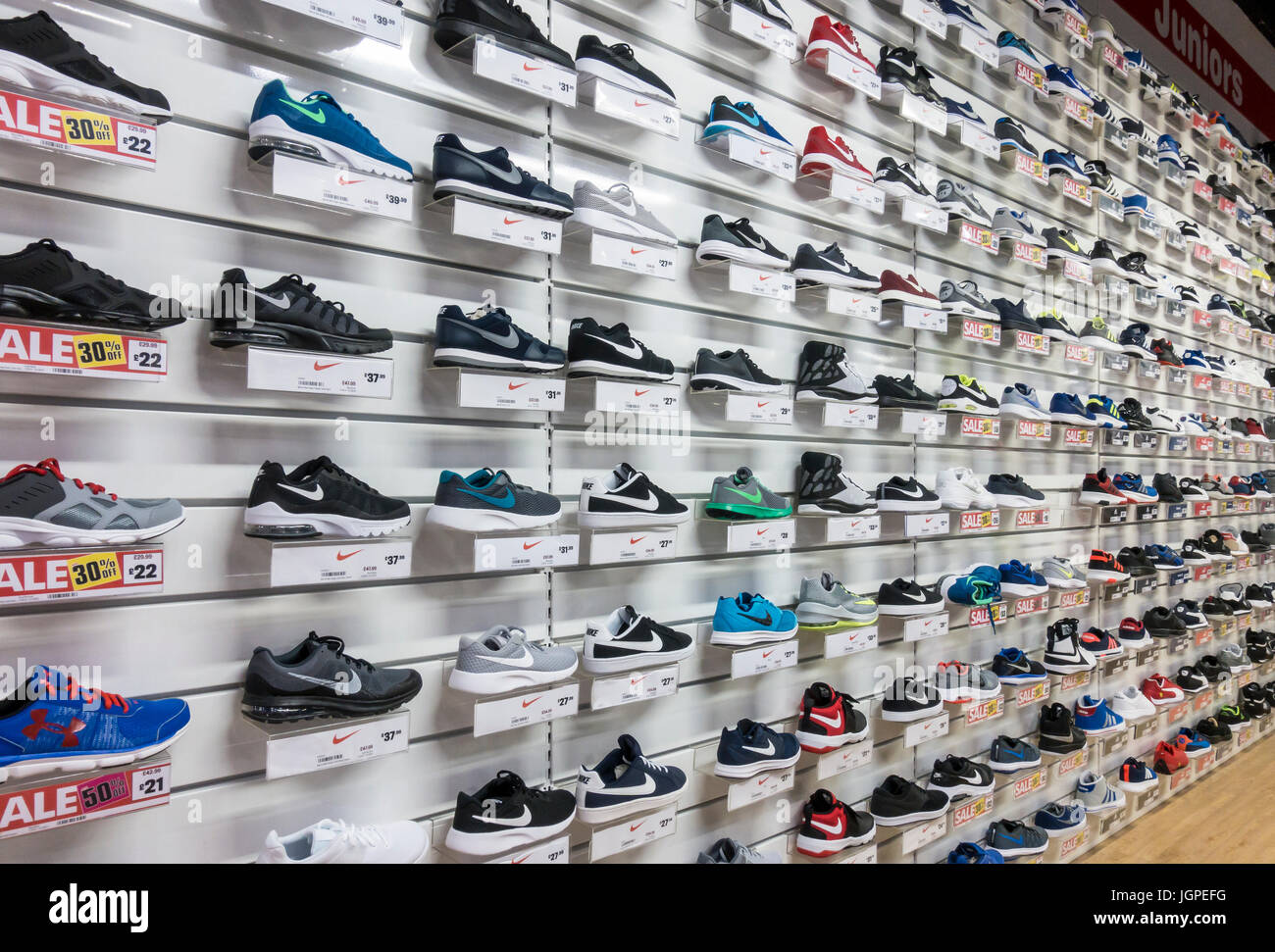 Trainers Shop High Resolution Stock