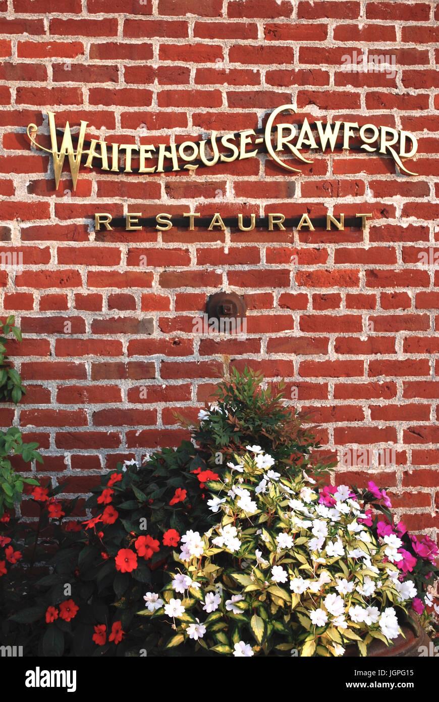 Whitehouse Crawford Restaurant Walla Walla Wa Usa Stock Photo