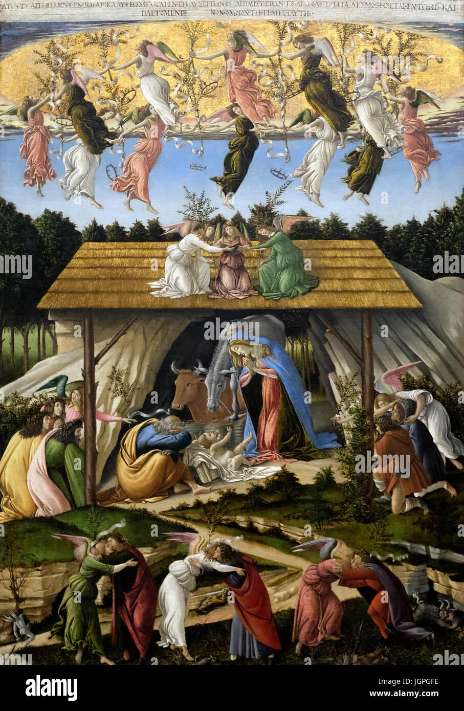 Mystic Nativity - Sandro Botticelli - circa 1500 - Stock Image
