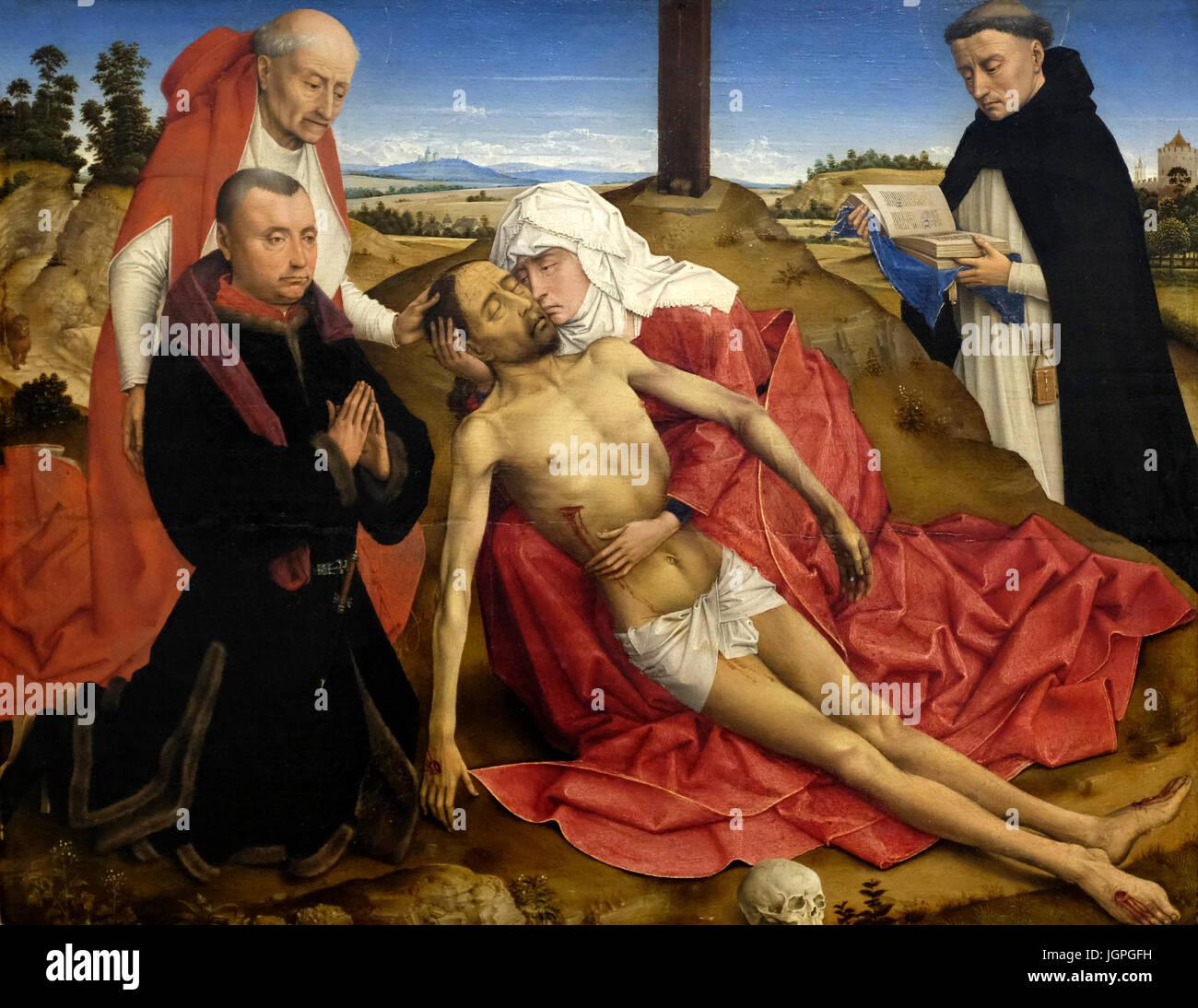 Pieta - probably workshop of Rogier van der Weyden - circa 1465 - Stock Image