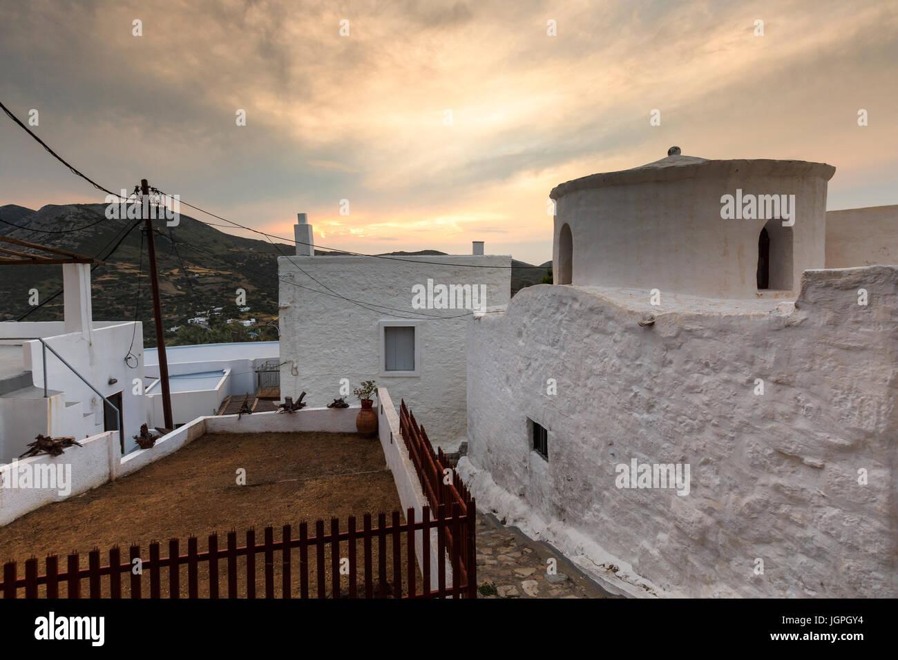 View of Chora village on Skyros island, Greece. - Stock Image