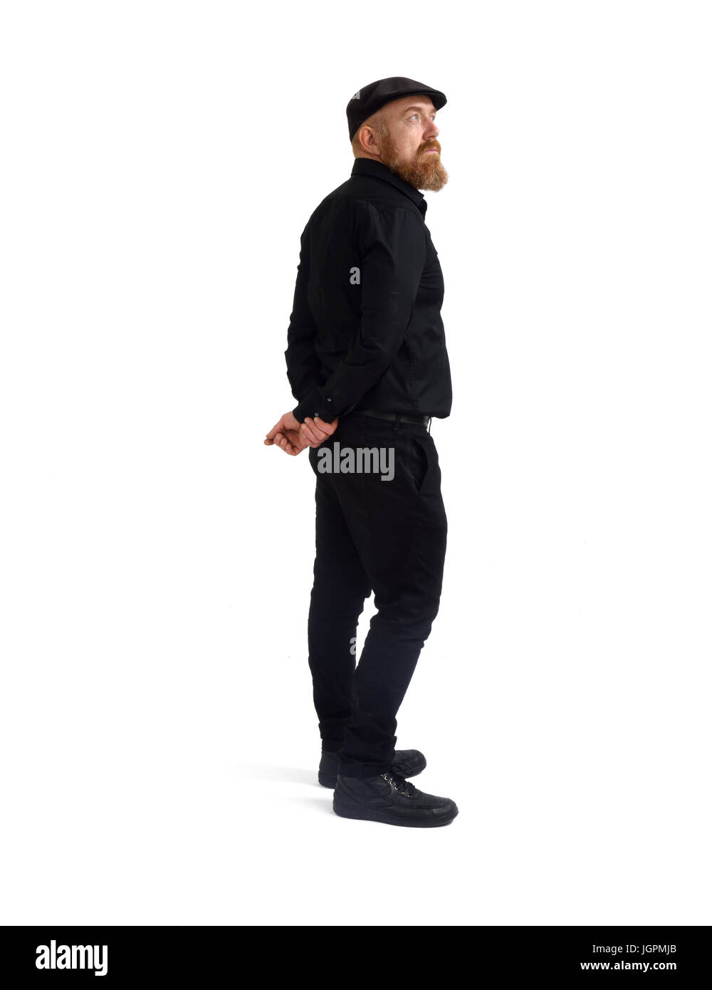 Redheaded man isolated with white background, - Stock Image