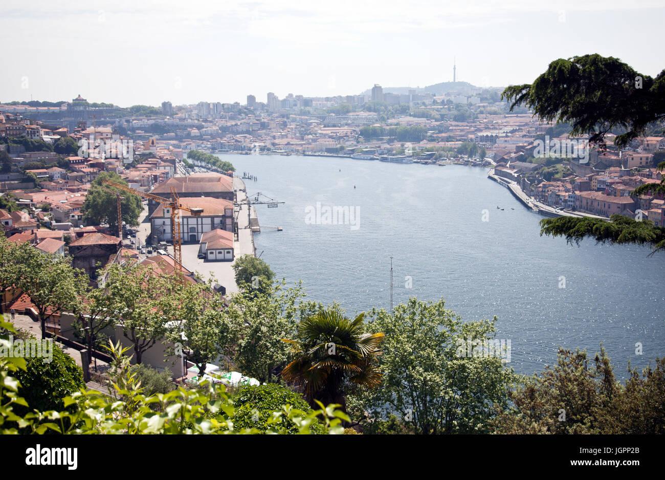 Views from Palacio de Cristal Gardens in Porto - Portugal - Stock Image