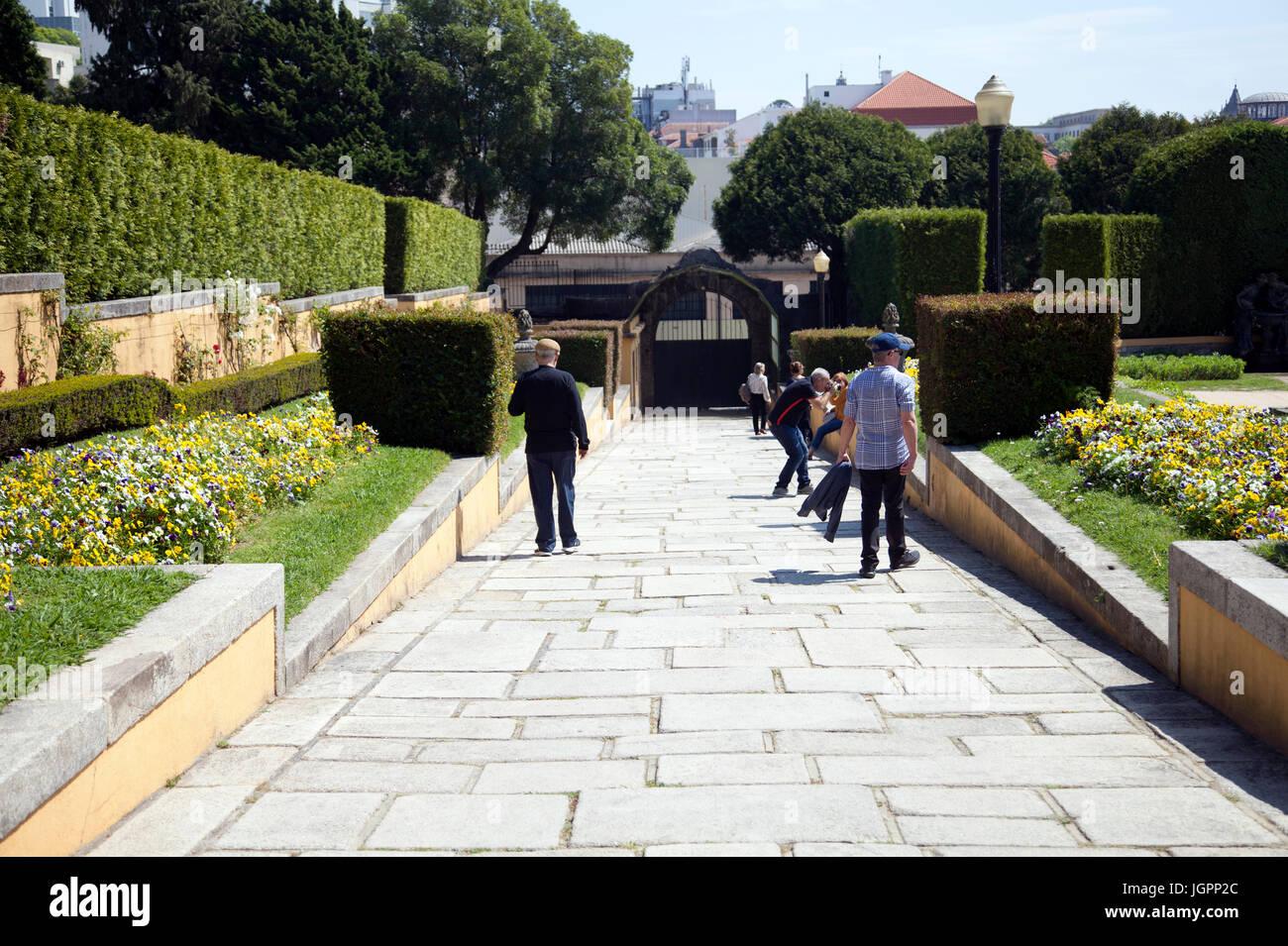 Palacio de Cristal Gardens in Porto - Portugal - Stock Image
