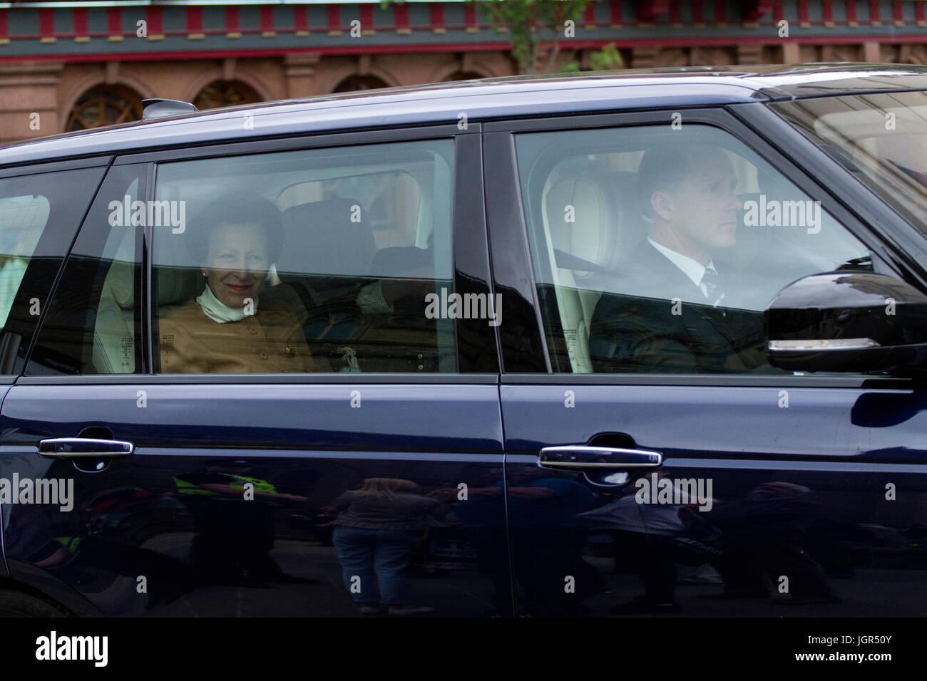 Dundee, Tayside, Scotland, UK. 10th July, 2017. Official engagements undertaken by members of the Royal Family today. Stock Photo