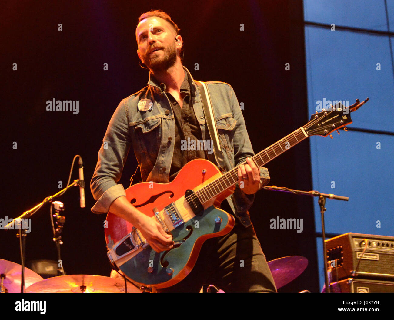 Milwaukee, Wisconsin, USA. 9th July, 2017. Mondo Cozmo performs live at Henry Maier Festival Park during Summerfest - Stock Image