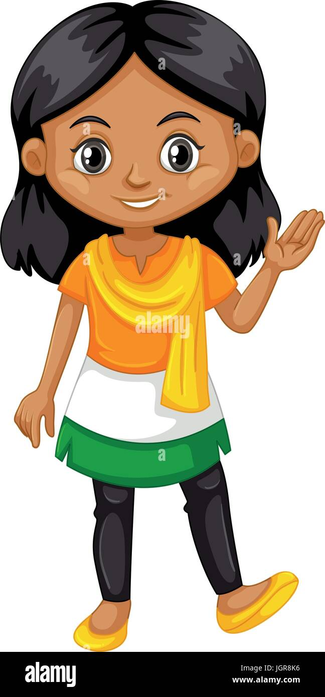 Indian Girl Smile Stock Vector Images Alamy