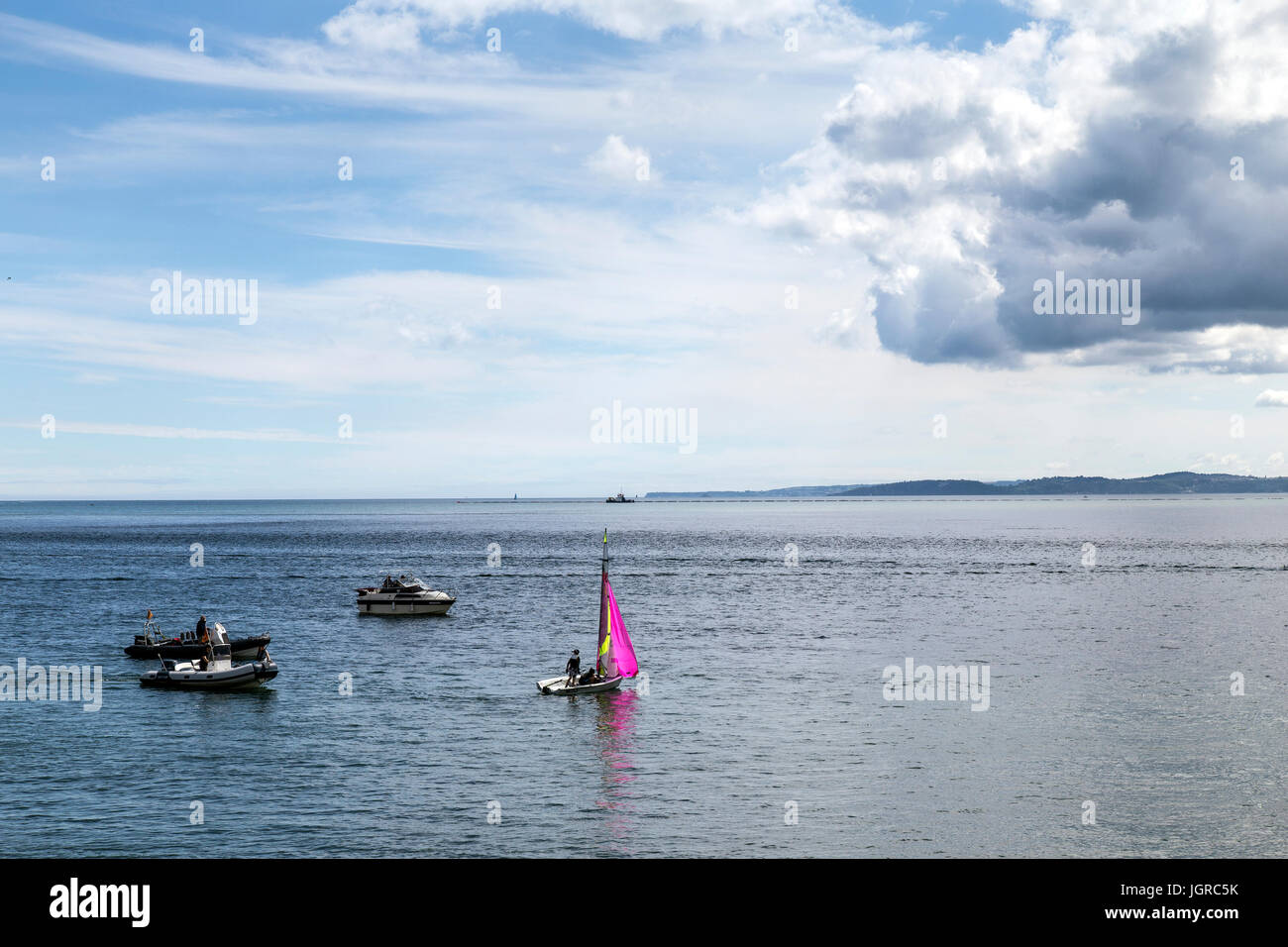 river Exe at Exemouth in Devon,estuary - Stock Image