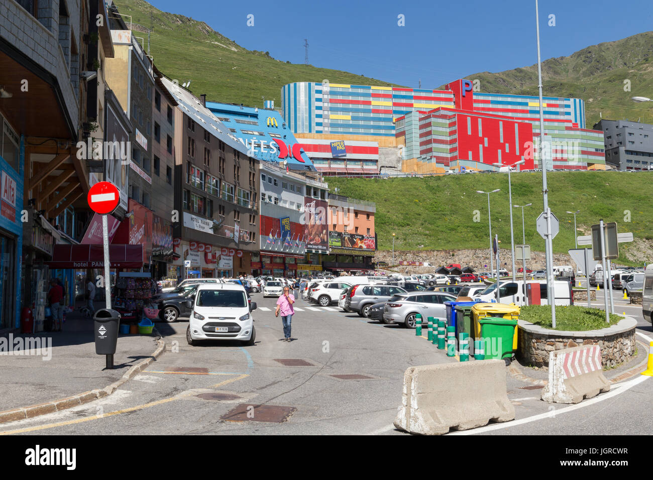View of Andorra shoping street. - Stock Image