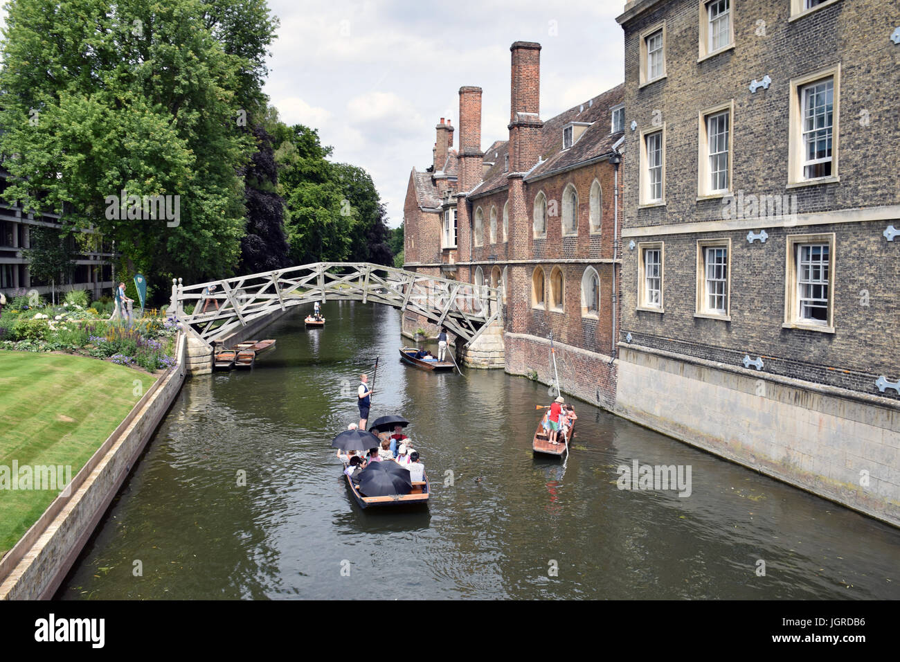 Punting River Cam, Cambridge UK July 2017 - Stock Image