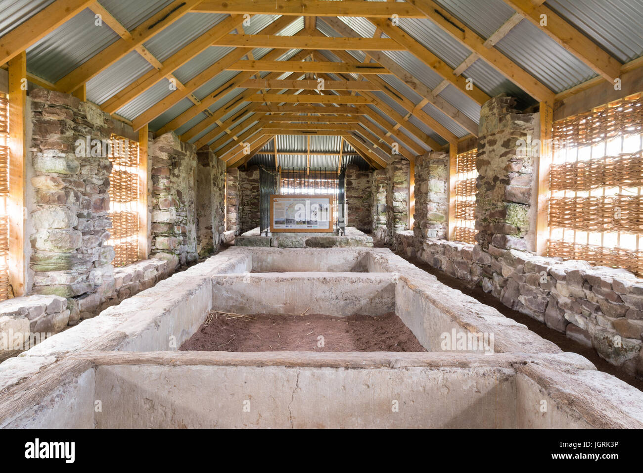 Hebridean barn - recently renovated - Applecross, Scotland, UK - Stock Image