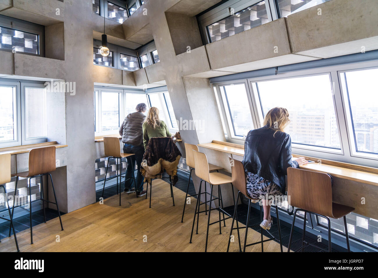 The Bar Restaurant Inside The Top Floor Of Switch House Tate Modern Stock Photo Alamy