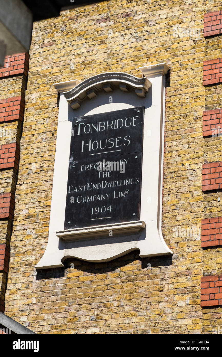 Tonbridge Houses on Tonbridge Street in the Borough of Camden built by the East End Dwellings Company, London, England, Stock Photo