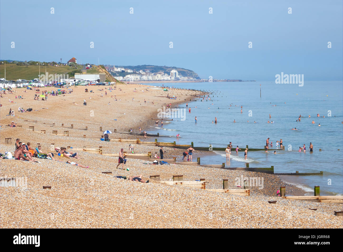 Bexhill-0n-Sea beach, East Sussex, England, UK - Stock Image