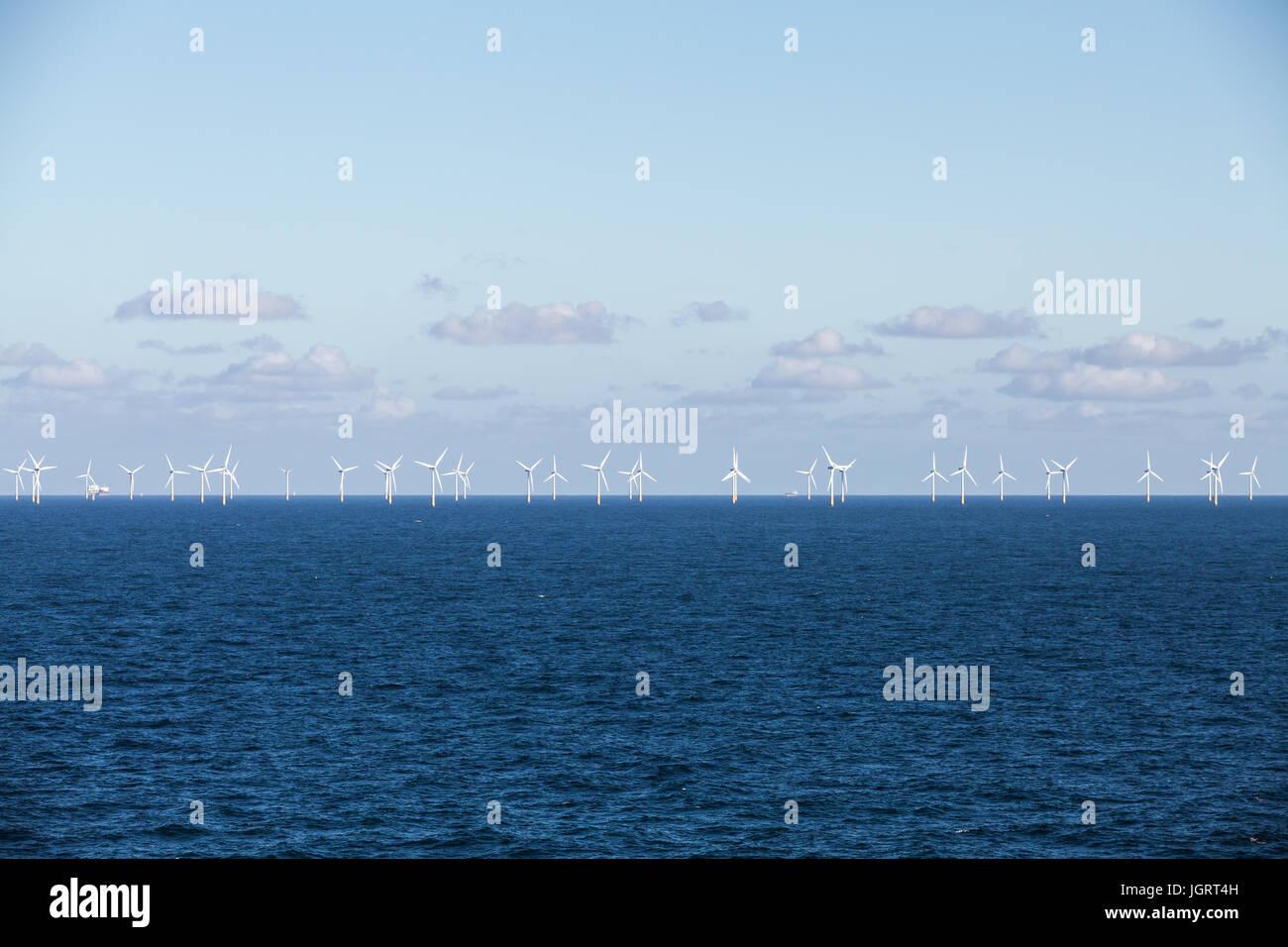 Offshore wind farm - Stock Image
