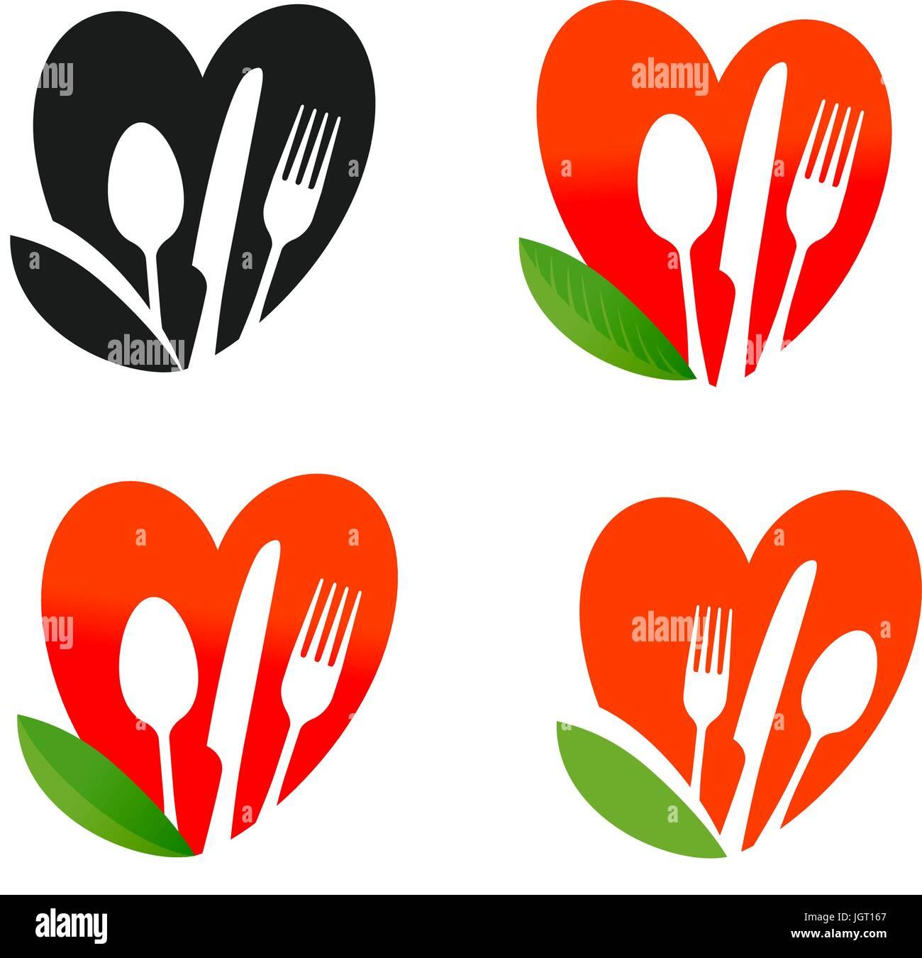 Natural, organic food logo  Healthy nutrition, diet, vegan icon