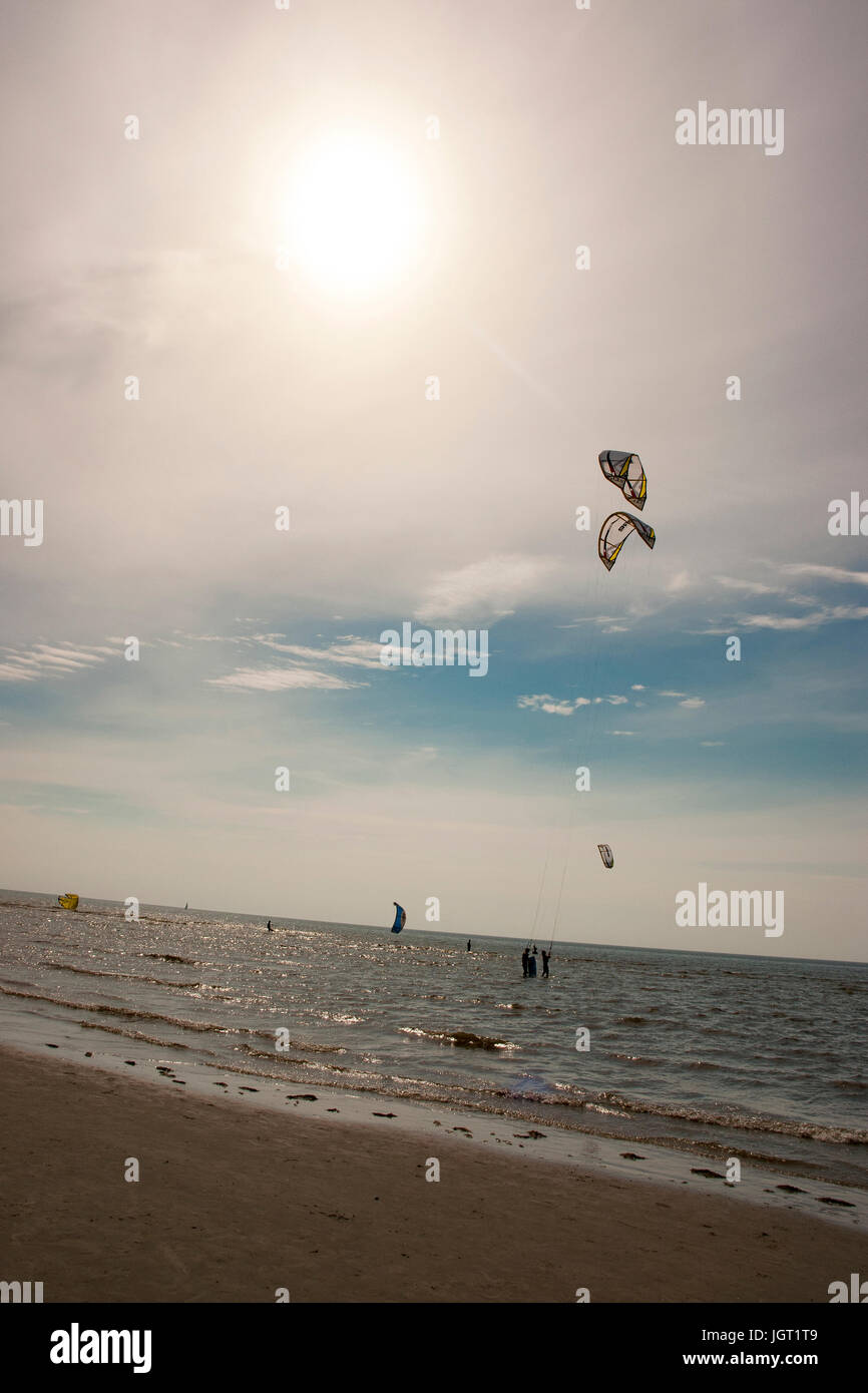 St. Peter Ording Beach Kite Surf Worldcup 2010. - Stock Image