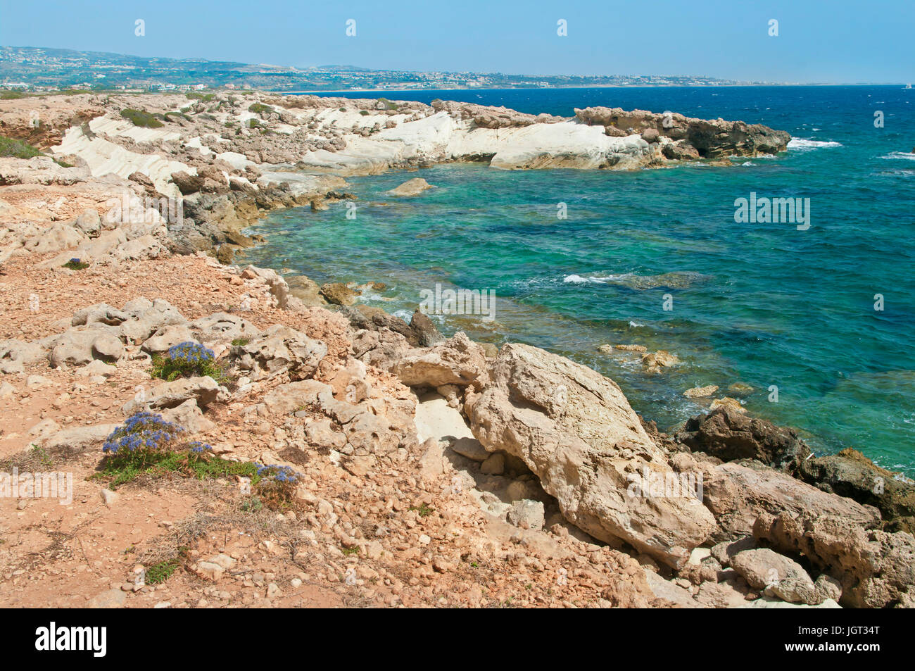 Rocks And Sea At Coral Bay Cyprus Stock Photo Alamy
