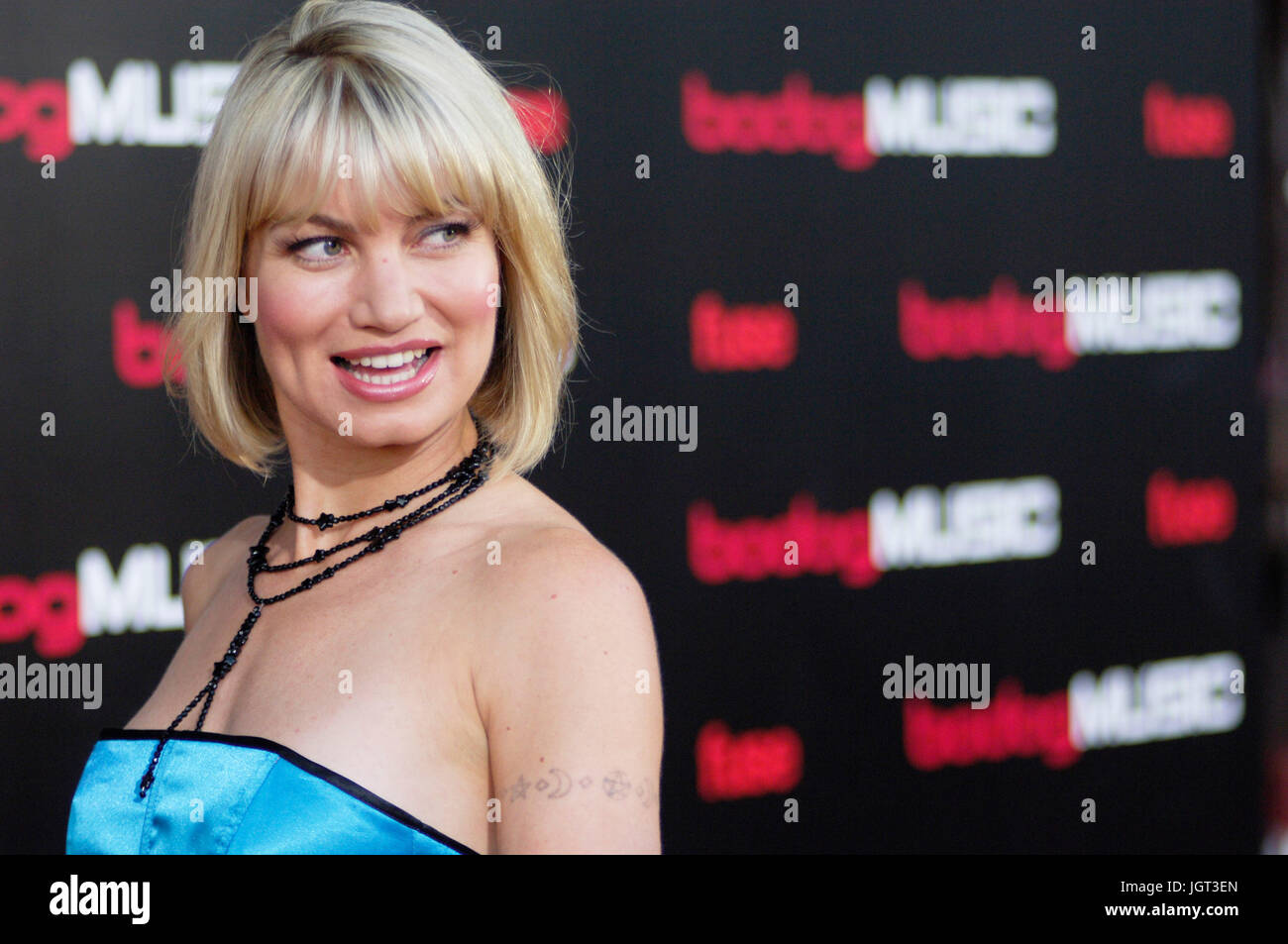 Actress Rena Riffel red carpet Bodog Battle Bands finale House Blues Hollywood,CA - Stock Image