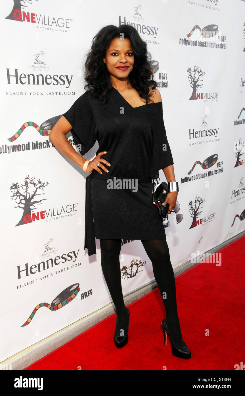 Actress Keesha Sharp attends 9th Annual Hollywood Black Film Festival Beverly Hills. - Stock Image