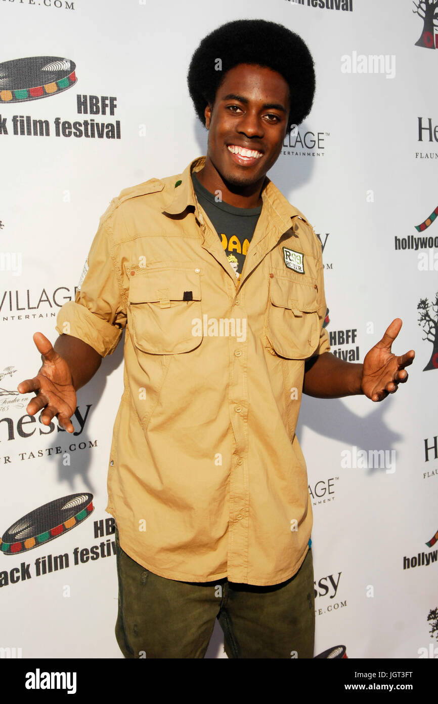 Actor Willie Macc attends 9th Annual Hollywood Black Film Festival Beverly Hills. - Stock Image