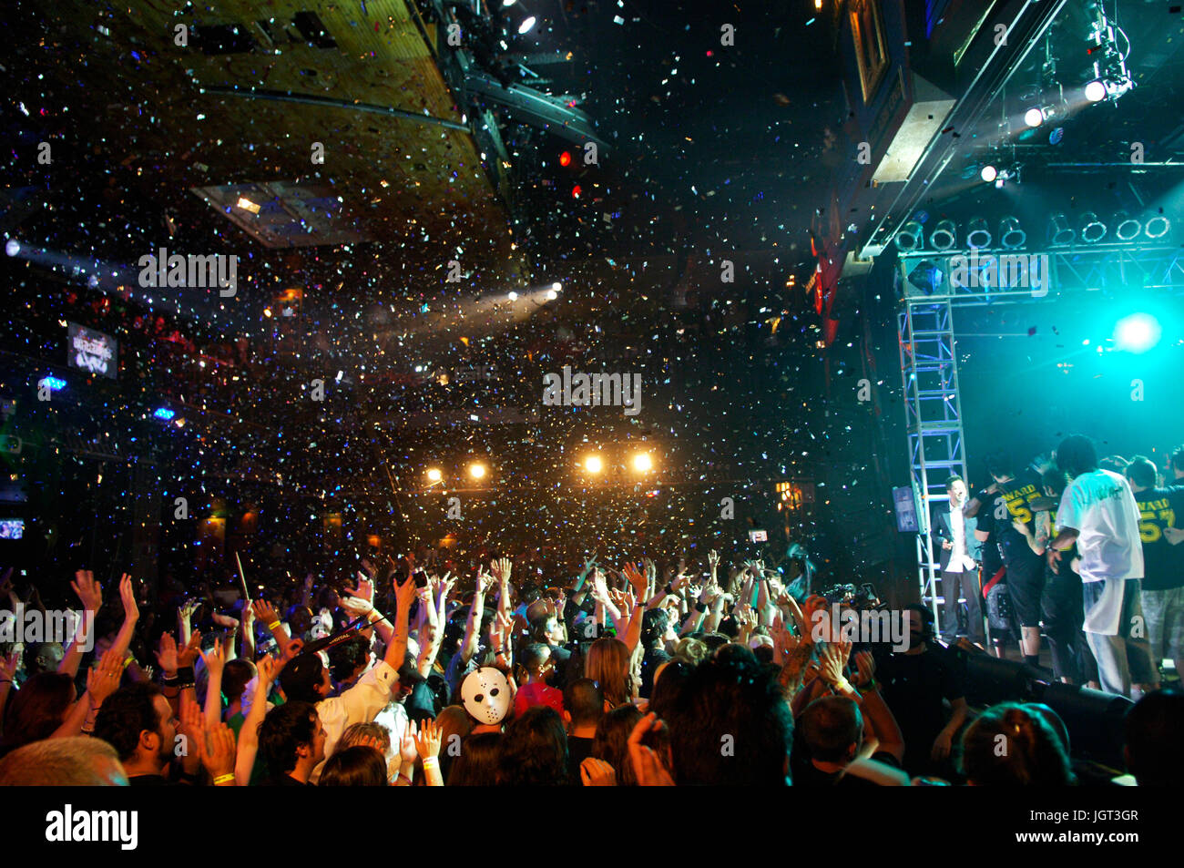 Crowd Bodog Battle Bands finale House Blues Hollywood,CA - Stock Image