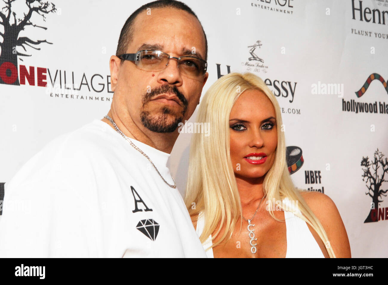 Rapper/actor Ice T,model Coco attends 9th Annual Hollywood Black Film Festival Beverly Hills. - Stock Image