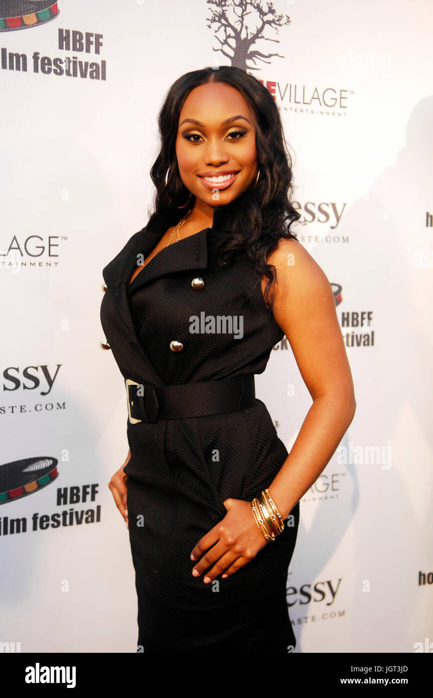 Actress Angell Conwell attends 9th Annual Hollywood Black Film Festival Beverly Hills. - Stock Image