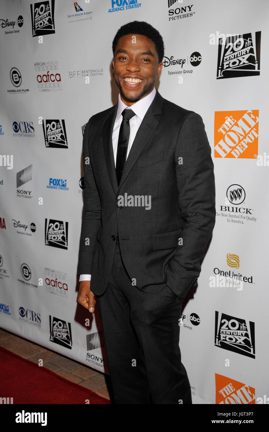 Chadwick Boseman attends 6th Annual AAFCA Awards Taglyan Cultural Complex February 4,2015 Hollywood,California. - Stock Image