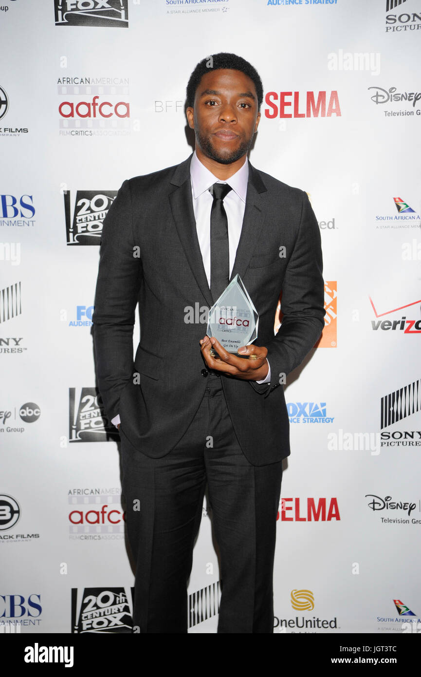 Actor Chadwick Boseman attends 6th Annual AAFCA Awards Taglyan Cultural Complex February 4,2015 Hollywood,California. - Stock Image