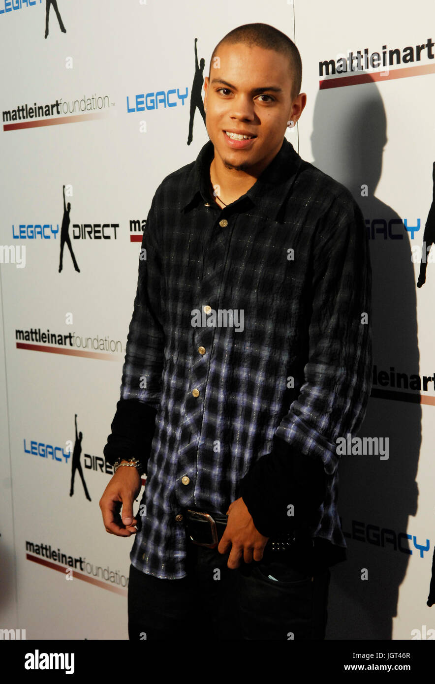 Evan Ross attends 2nd Annual Celebrity Bowling Night held by Matt Leinard July 17,2008 Hollywood,California. - Stock Image