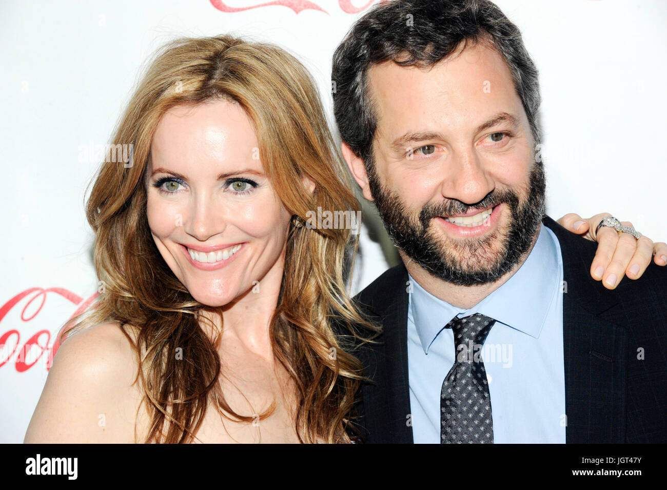 Leslie Mann (L) Judd Apatow arrive CinemaCon's Big Screen Achievement Awards ceremony Caesars Palace April 26,2011 - Stock Image
