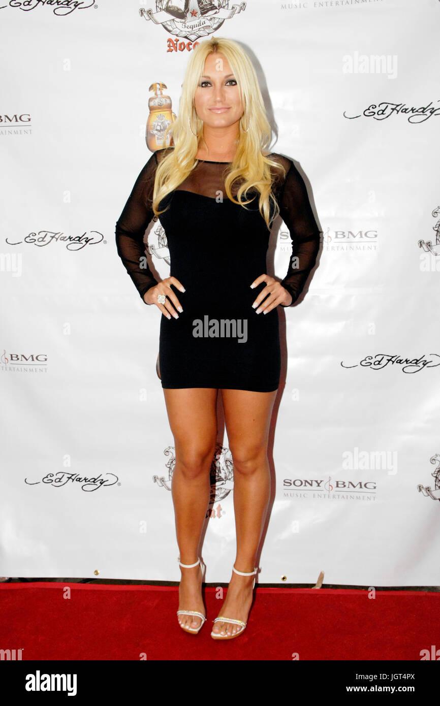 Brooke Hogan attends Raz B's mixtape release party April 20,2010 Los Angeles,California. - Stock Image