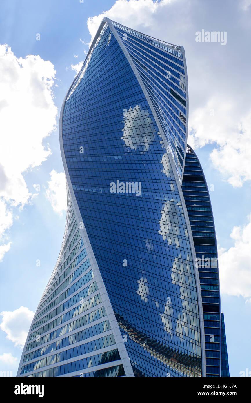 Modern highrise in Moscow, Russian Federation - Stock Image