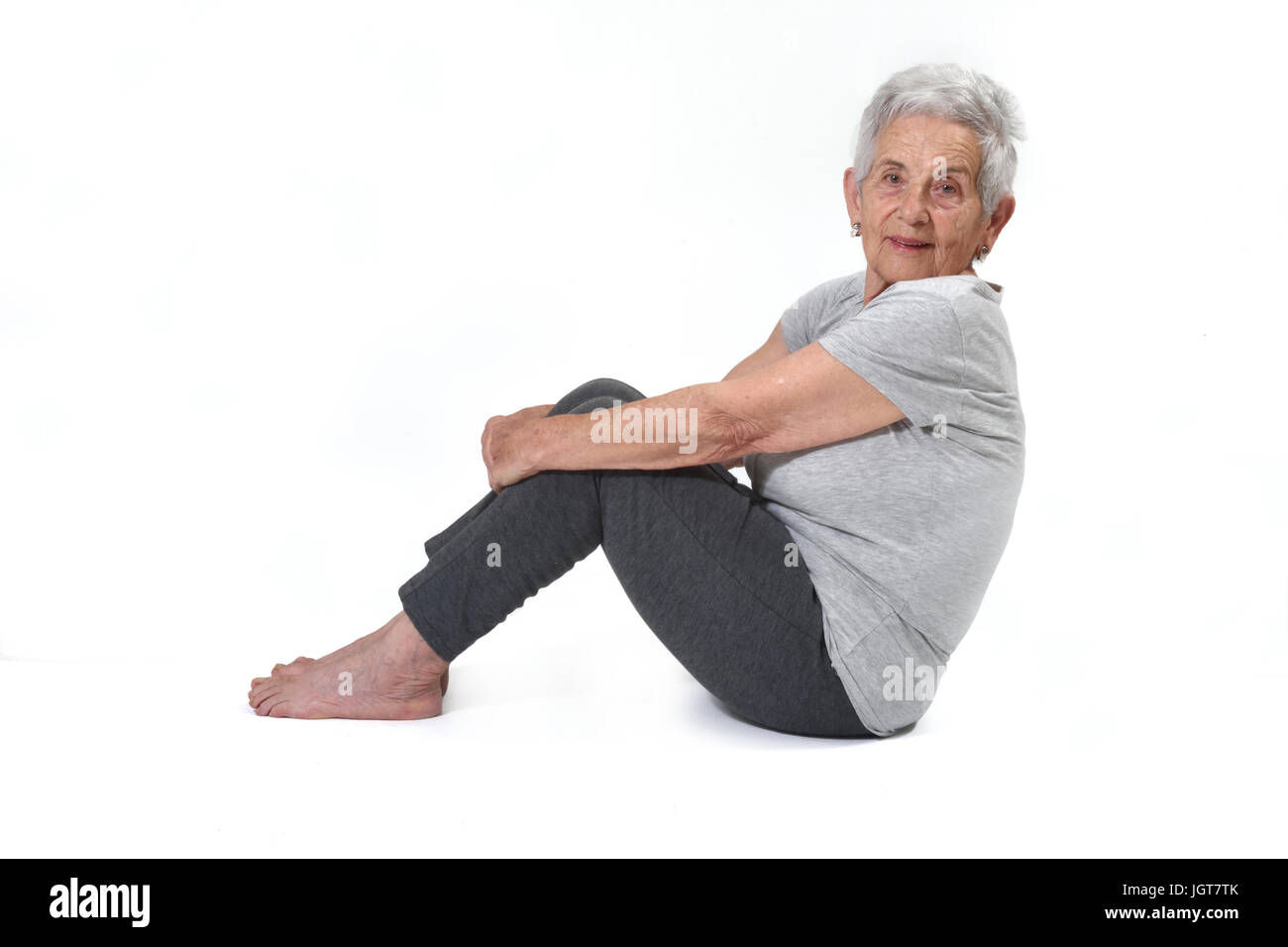 Portrait of a senior woman - Stock Image