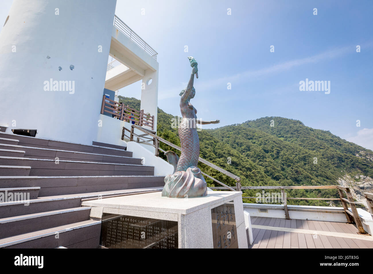 Jun 21, 2017 Mermaid Statue near the Yeongdo Lighthouse at ...