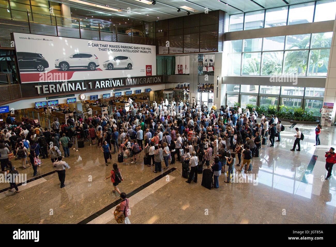 Changi Airport Singapore - Stock Image