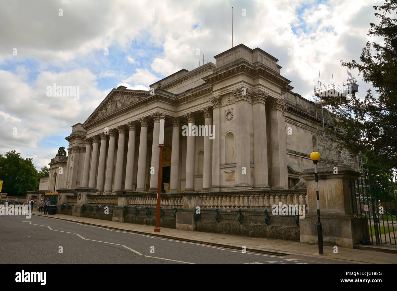 Fitzwilliam Museum - art and antiquities museum of the University of Cambridge located on Trumpington Street Cambridge Stock Photo