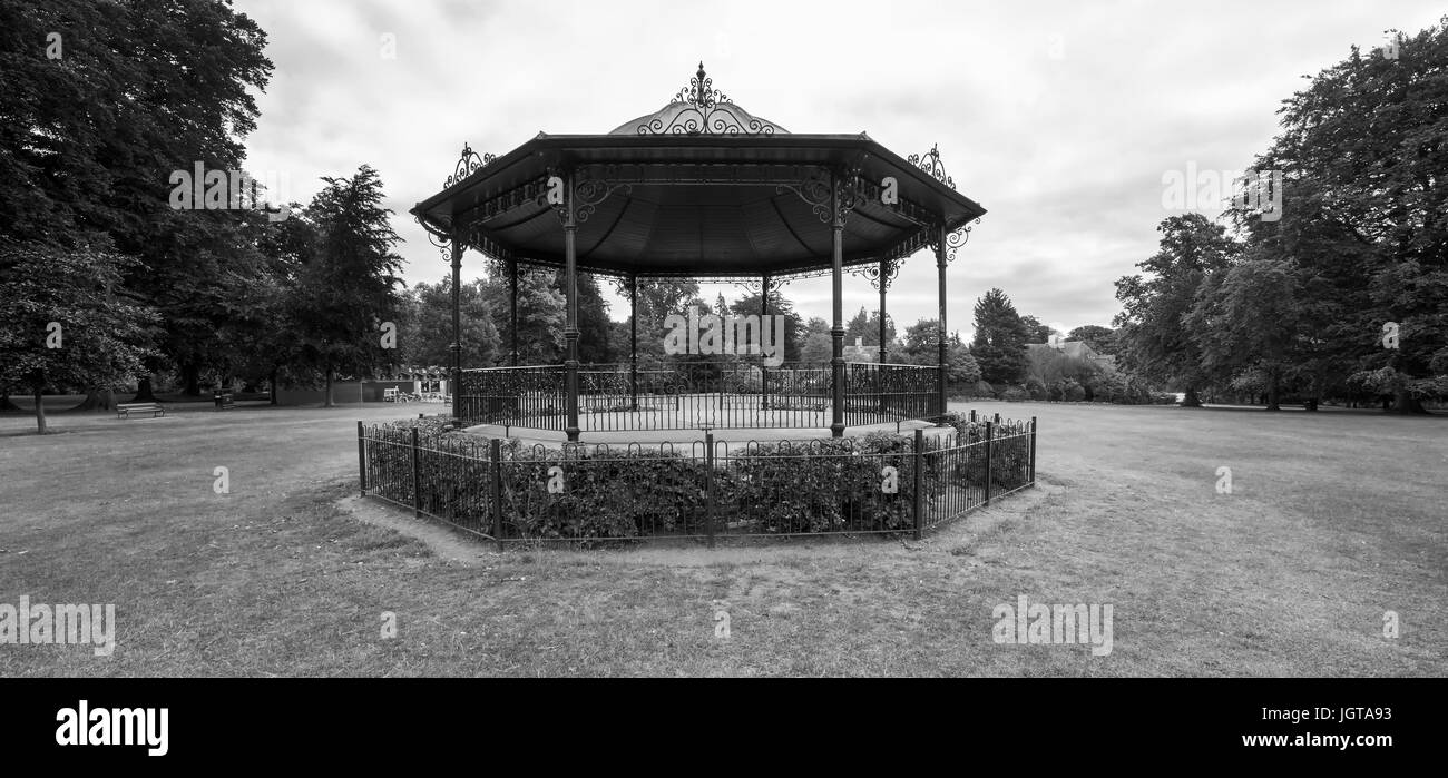 The Band Stand in the top of Abington Park, Northampton. - Stock Image