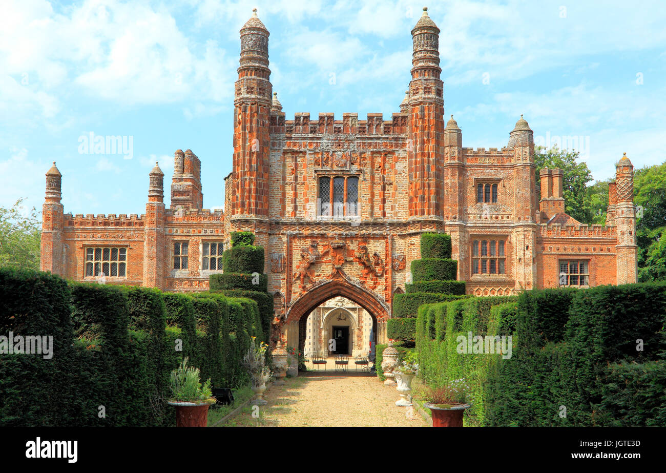East Barsham Manor, Tudor Manor House, Norfolk, England, UK, built 1522, historic house, houses, manors - Stock Image