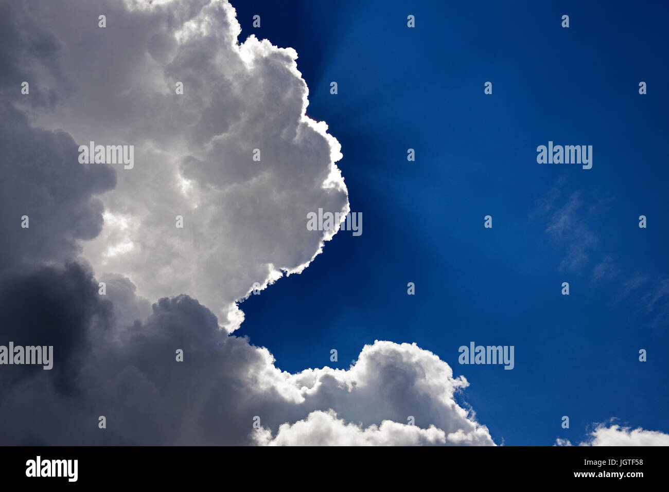 Every cloud has a silver lining - Stock Image