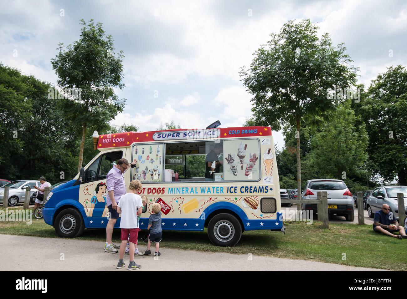 Ice cream  Van Stock Photo
