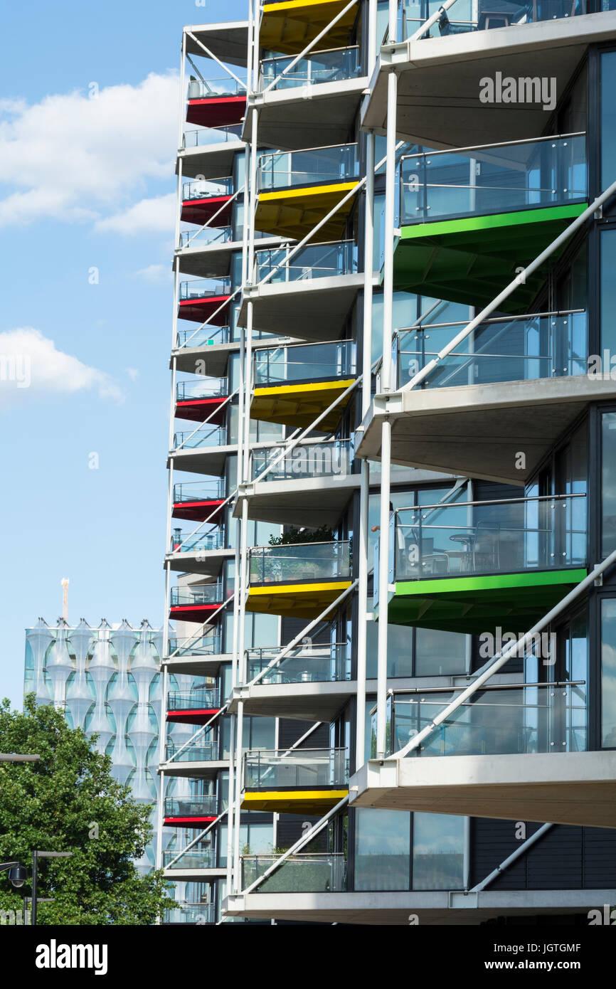 Riverlight apartments in Battersea, London, UK - Stock Image