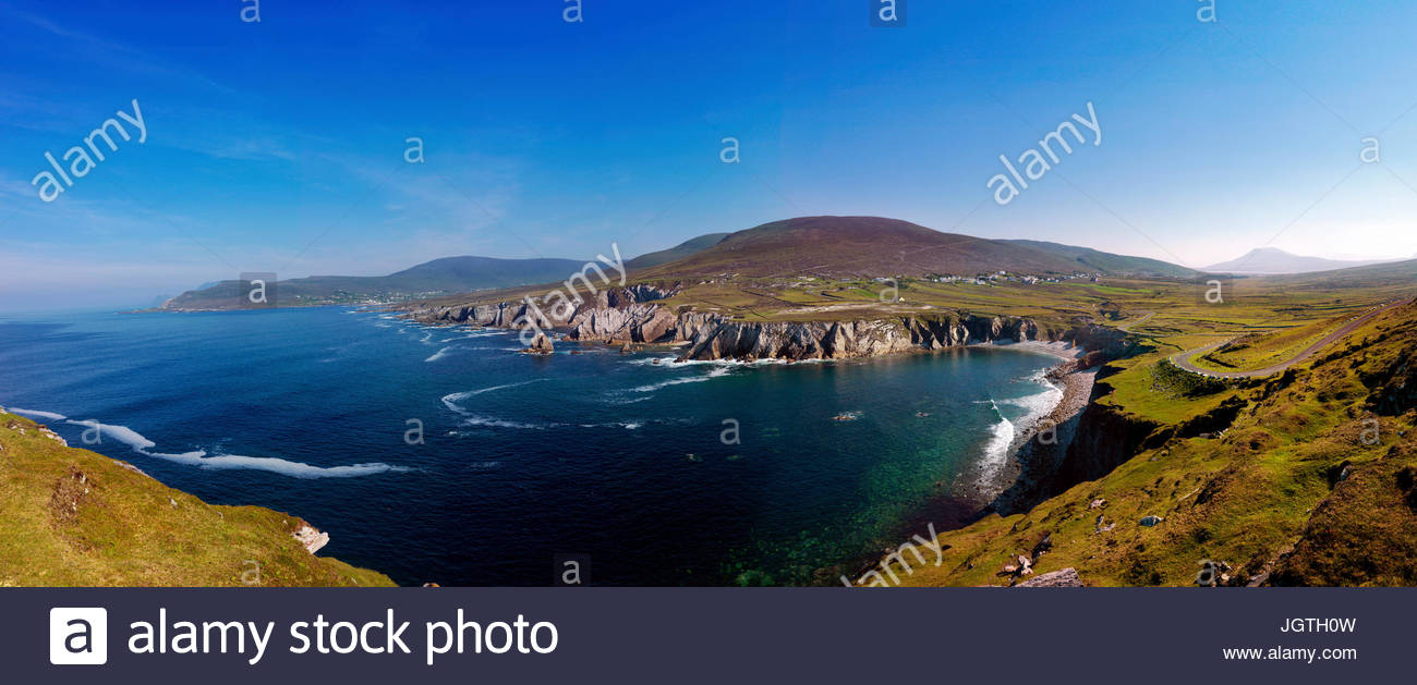 A view above Achill Island. - Stock Image