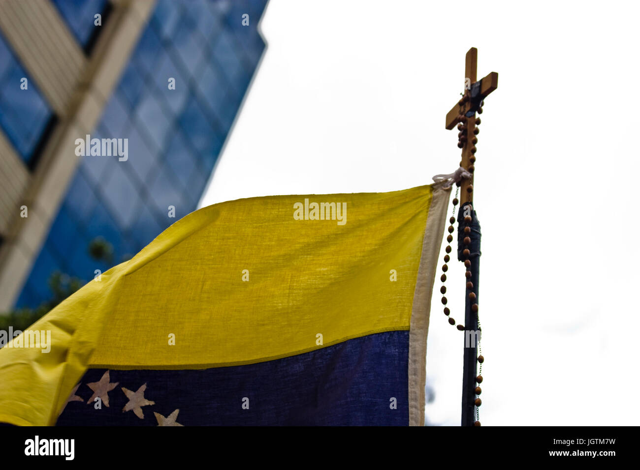 Oppositors demonstrators to the government of Nicolás Maduro met in Chacaíto, at the east of Caracas, - Stock Image