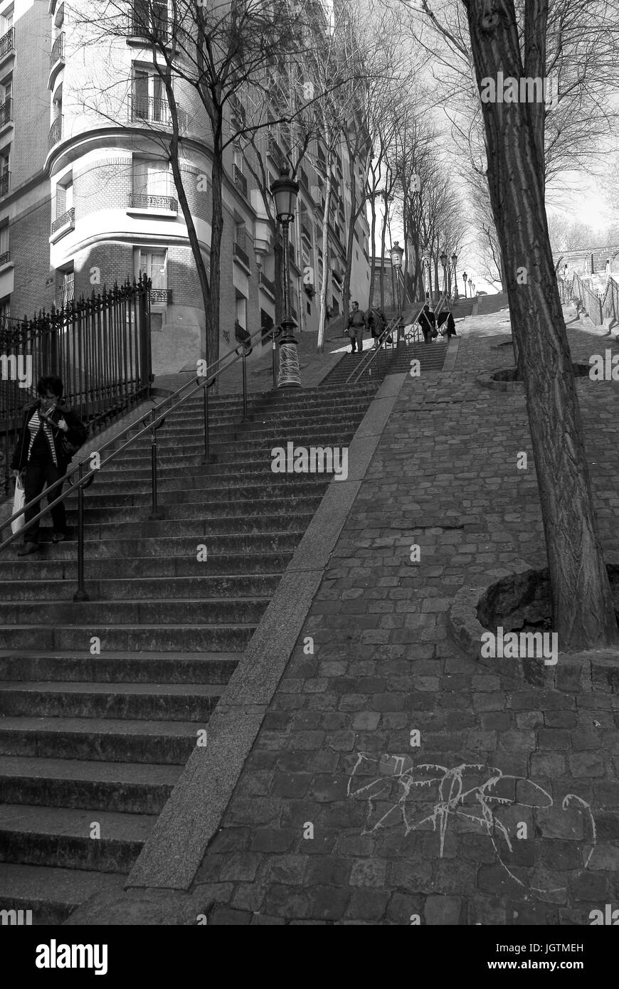 La Butte Montmarte, 18° arrondissement, Ile-de-France, France - Stock Image