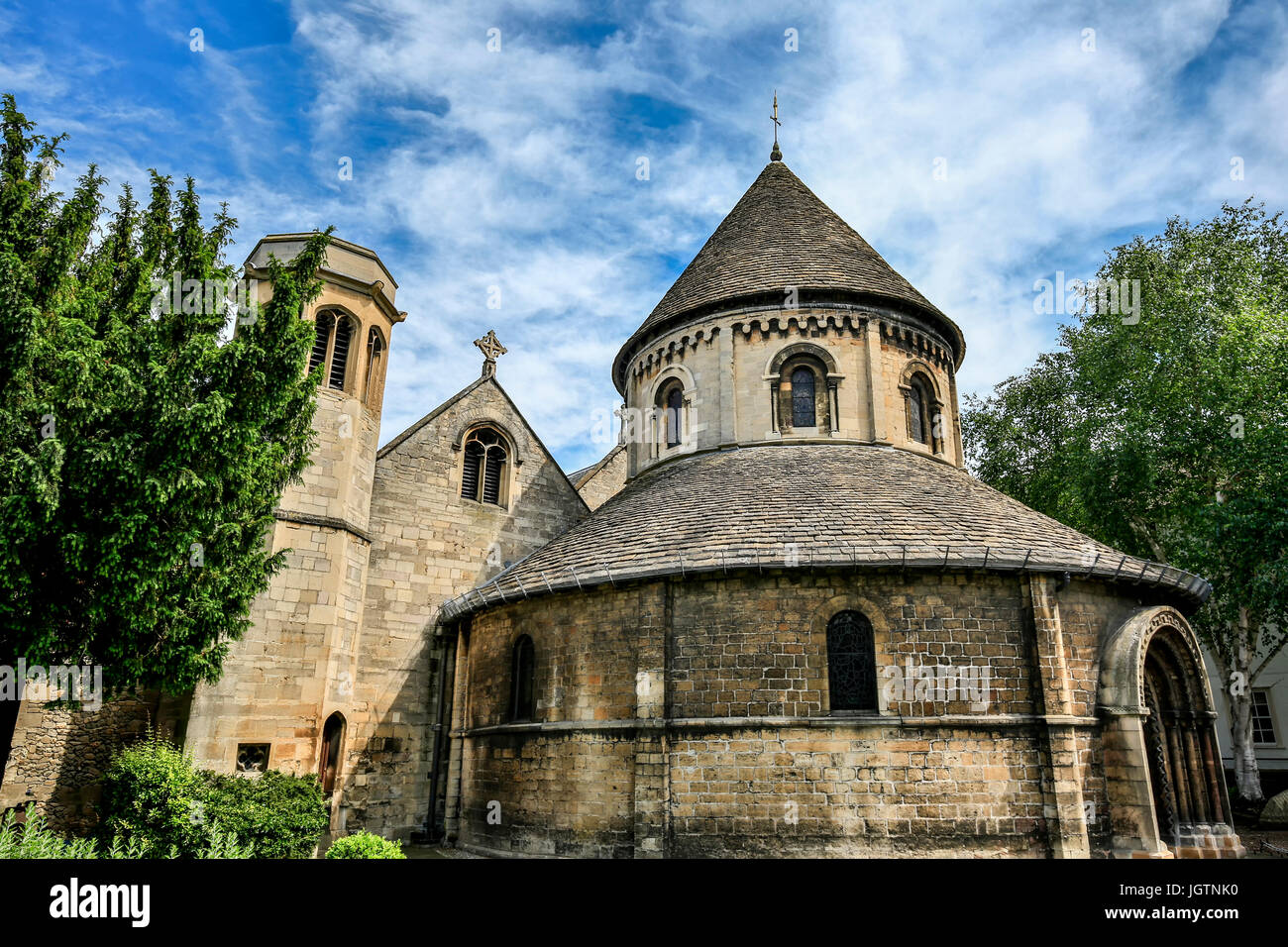 Church of the Holy Sepulchre (The Round Church), Cambridge, Cambridgeshire, England, United Kingdom - Stock Image
