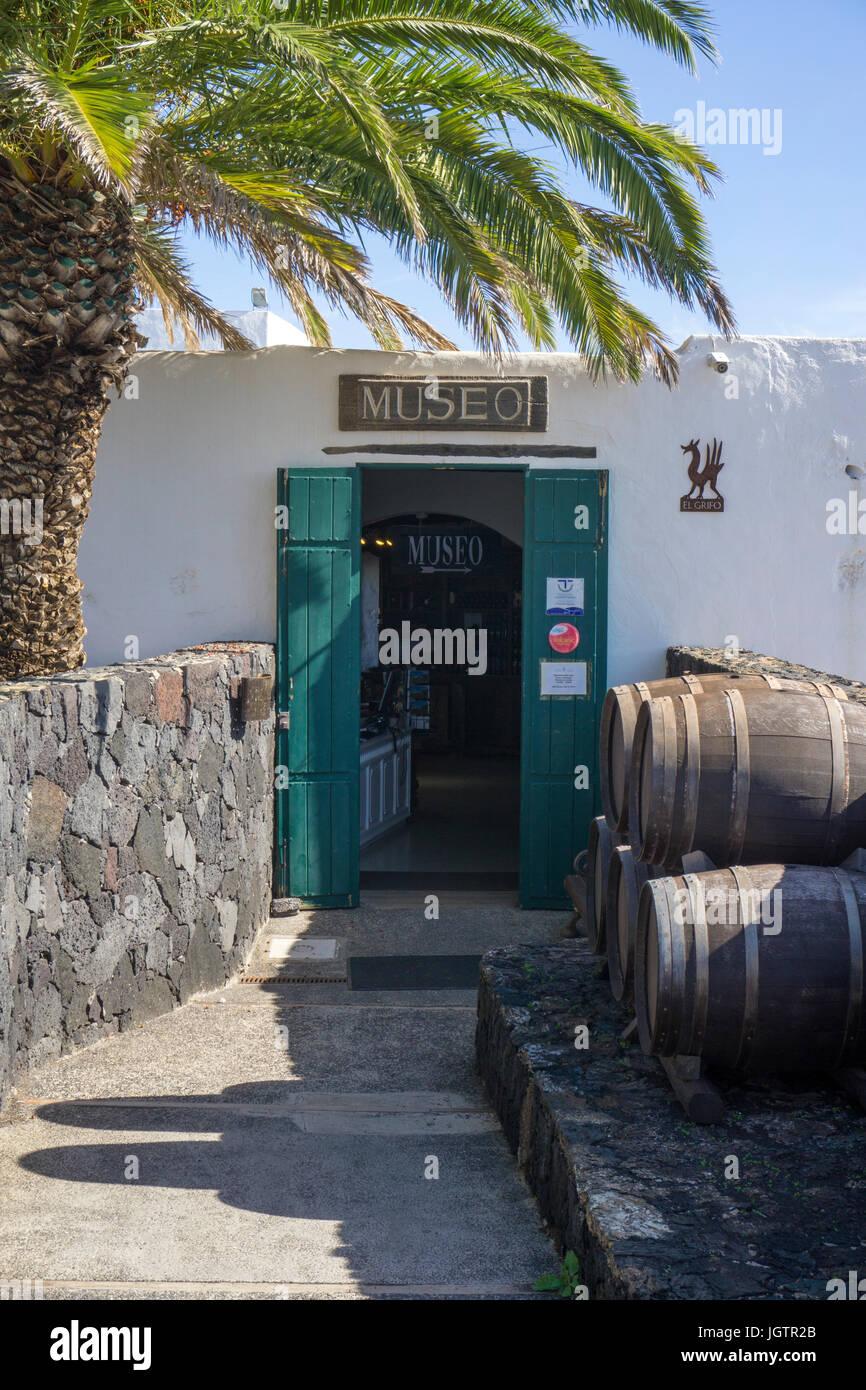 Museo Del Vino.Entrance To Museo Del Vino Wine Museum At Bodega El Grifo Vineyard