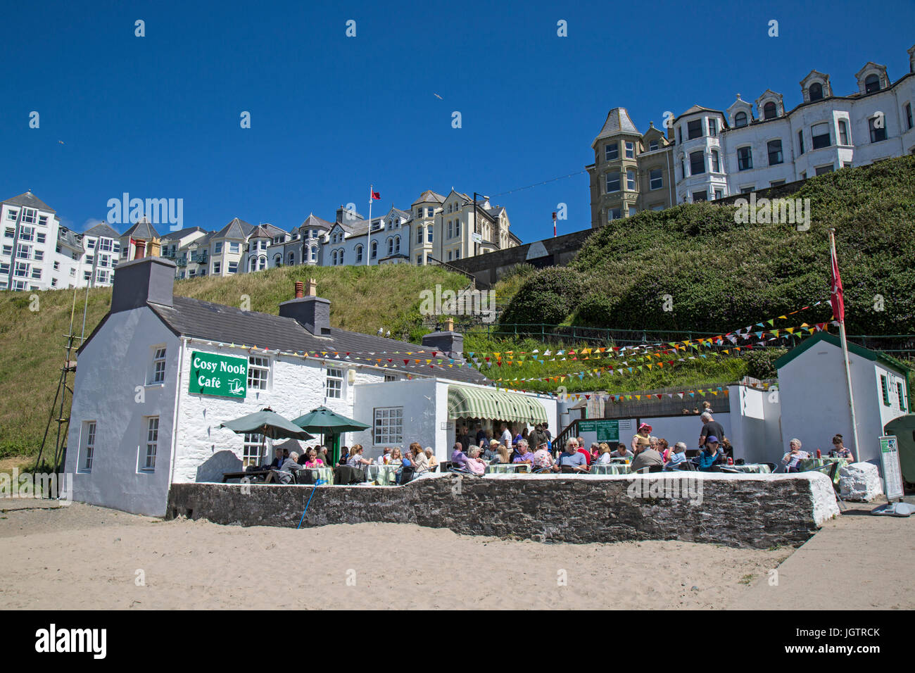 The Cosy Nook cafe in Port Erin on The Isle of man. - Stock Image